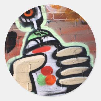 diseños enrrollados de la pintada pegatina redonda