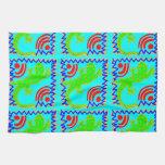 Diseños enrrollados del animal del modelo del laga toallas de mano