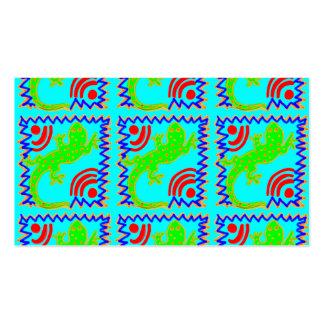 Diseños enrrollados del animal del modelo del laga plantillas de tarjetas de visita