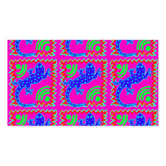 Diseños enrrollados del animal del modelo del laga tarjetas de visita