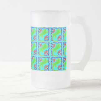 Diseños enrrollados del animal del modelo del laga taza de café