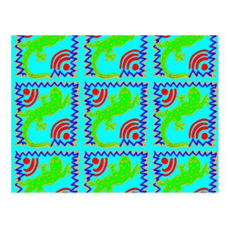 Diseños enrrollados del animal del modelo del tarjetas postales