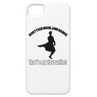 diseños escoceses de la danza de la montaña iPhone 5 cárcasas