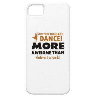 Diseños escoceses del baile de la montaña iPhone 5 cárcasas