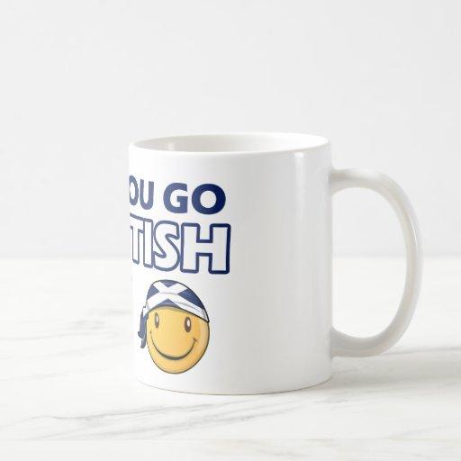 Diseños escoceses taza