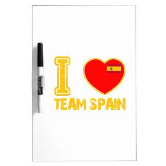 diseños españoles del deporte tableros blancos