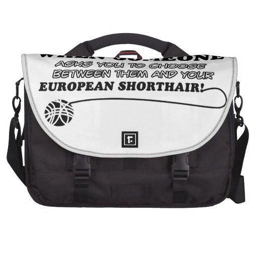 Diseños europeos torpes del shorthair bolsas de portatil