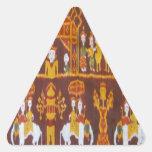 Diseños exóticos de la tela colcomanias de triangulo personalizadas