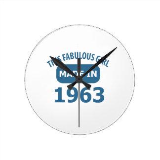diseños fabulosos de 1963 años reloj redondo mediano