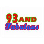 diseños fabulosos del cumpleaños 93and tarjetas postales