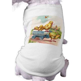 Diseños felices de Pascua del vintage Camisas De Mascota