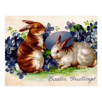 Diseños felices de Pascua del vintage Postal