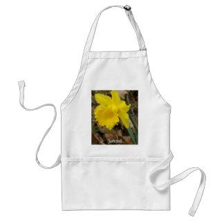Diseños florales amarillos de Jonquils de la prima Delantales
