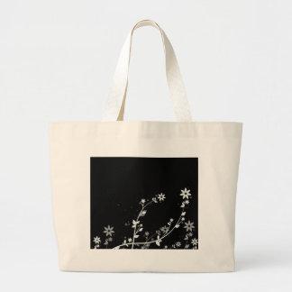 Diseños florales digitales de las flores ventosas bolsas de mano