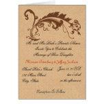 Diseños formales de la obra clásica tarjeta pequeña