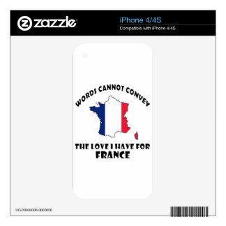 Diseños franceses de la bandera nacional y del calcomanía para el iPhone 4