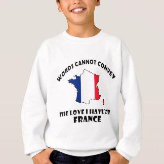 Diseños franceses de la bandera nacional y del poleras