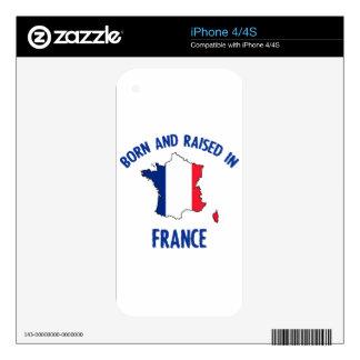 Diseños franceses de la bandera nacional y del skin para el iPhone 4