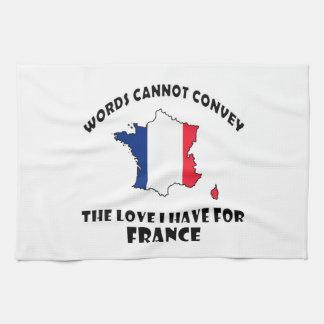 Diseños franceses de la bandera nacional y del toallas de cocina