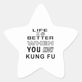 Diseños frescos de Kung Fu Calcomanías Forma De Estrella