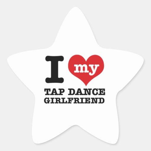 Diseños frescos de la danza de golpecito calcomanías forma de estrellas