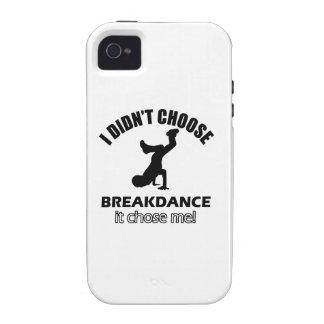 Diseños frescos de la danza de rotura vibe iPhone 4 carcasas