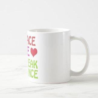 Diseños frescos de la danza de rotura taza de café