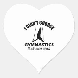 Diseños frescos de la gimnasia pegatina en forma de corazón