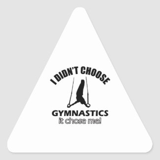 Diseños frescos de la gimnasia pegatina triangular