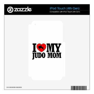 diseños frescos de la mamá del judo iPod touch 4G calcomanías