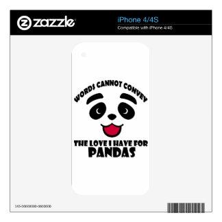 diseños frescos de la panda calcomanías para el iPhone 4S