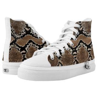 diseños frescos de la piel del pitón zapatillas