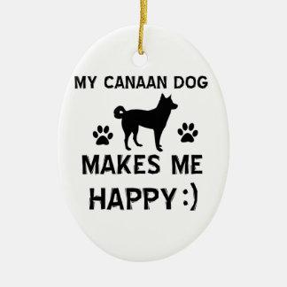 Diseños frescos de la raza del perro del perro de adorno ovalado de cerámica