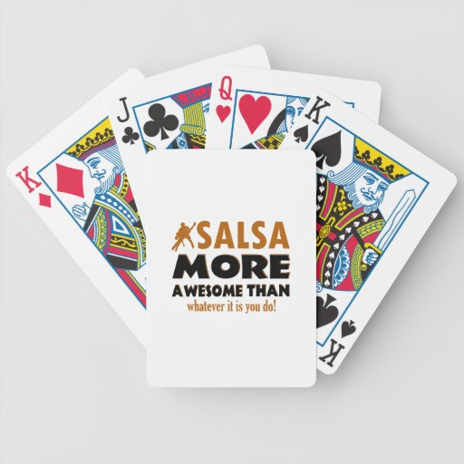 Diseños frescos de la salsa baraja cartas de poker