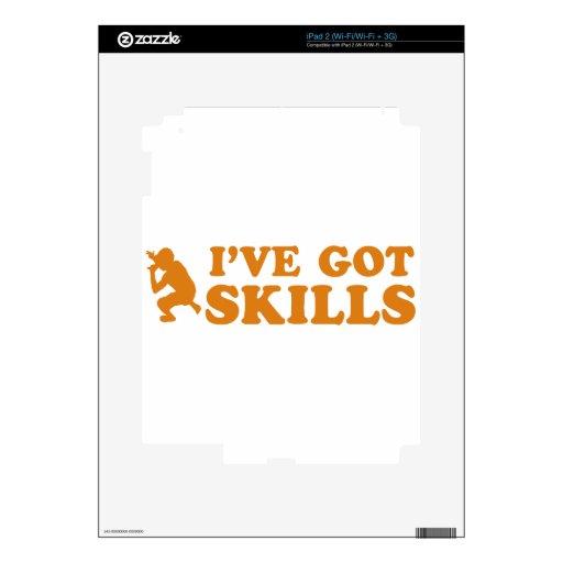 diseños frescos de las habilidades del rap skin para el iPad 2