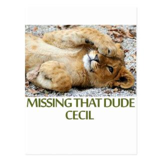 diseños frescos de los leones postal