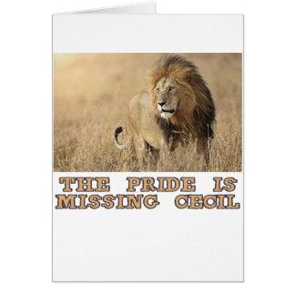 diseños frescos de los leones tarjeta de felicitación