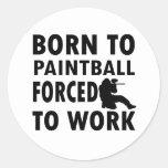 Diseños frescos de Paintball Etiquetas Redondas