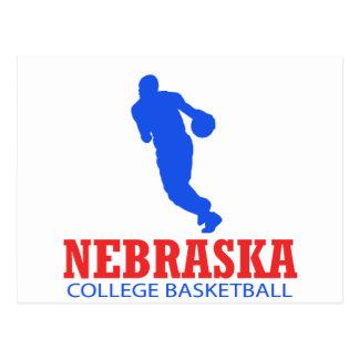 DISEÑOS frescos del baloncesto de Nebraska Tarjeta Postal