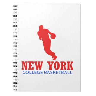 DISEÑOS frescos del baloncesto de Nueva York Libretas Espirales