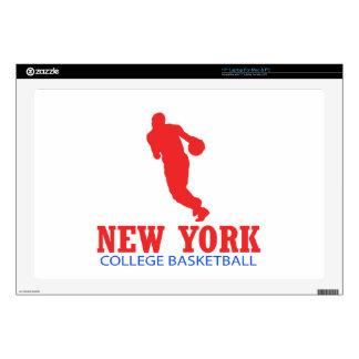 DISEÑOS frescos del baloncesto de Nueva York Portátil Calcomanía