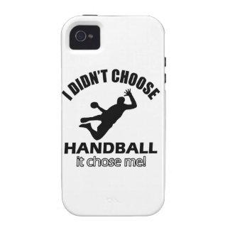 Diseños frescos del balonmano iPhone 4 funda