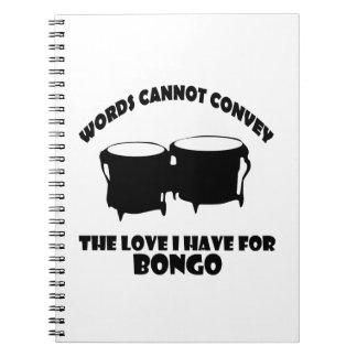 diseños frescos del bongo libreta espiral