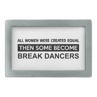 Diseños frescos del break dance hebillas de cinturon