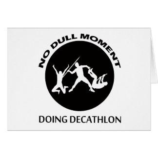 Diseños frescos del decathlon tarjeta de felicitación