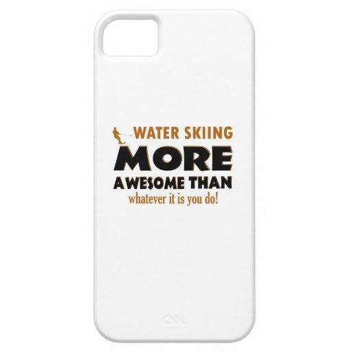 Diseños frescos del esquí acuático iPhone 5 cobertura