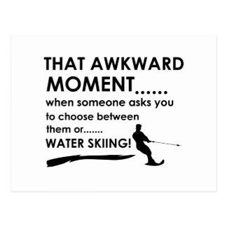 Diseños frescos del esquí acuático postal