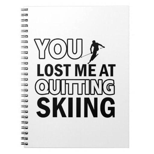 Diseños frescos del esquí libreta