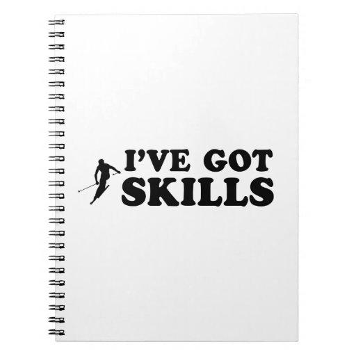 diseños frescos del esquí cuaderno