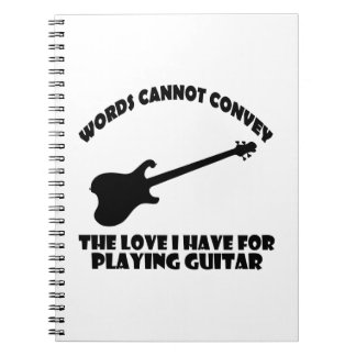 diseños frescos del guitarrista note book